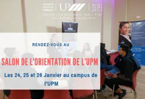 Salon de l'orientation de l'UPM du 24 au 26 Janvier 2019