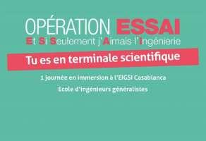 EIGSI Casablanca Opération ESSAI 2019 inscriptions