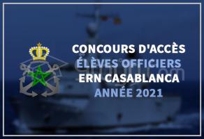 Concours d'accès au cycle des Élèves Officiers de l'ERN Casablanca 2021